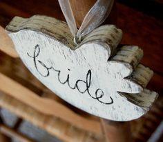 Wedding Sign Bride Groom Chairs Wood Birds Decoration