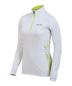 Take a look at this White & Lime Ultra Long-Sleeve Top by Pearl Izumi on #zulily today!