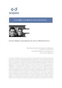 Lectura digital y aprendizaje: las nuevas alfabetizaciones. Universidad de Salamanca