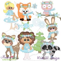 Woodland Winter SVG-MTC-PNG plus JPG Cut Out Sheet(s) Our sets also include clipart in these formats: PNG & JPG