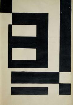 MAURICIO NOGUEIRA LIMA (1930 - 1999)  Título: Composição  Técnica: desenho a nanquim  Medidas: 30 x 20 cm
