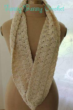 Infinity Scarf Cowl In Antique Cream By Deborah Currier-Hornyak - Free Crochet Pattern - (ravelry)
