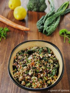 Healthy Detox Salad - a copycat version of the Whole Foods one using quinoa for added protein!