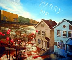 "James Stephens: Marry Me, 2007, oil on canvas, 50"" x 60"""