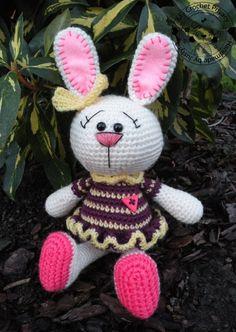 Crochet pattern  the Colourful Bunny by MyCrochetPrivacy on Etsy, $4.50