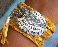 Beach Jewelry, Beach Wrap Bracelet, Personalized Leather Wrap Bracelet   Custom Made by HappyGoLicky Jewelry