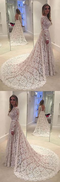 Lace Wedding Dresses #LaceWeddingDresses, Wedding Dresses A-Line #WeddingDressesALine, Wedding Dresses 2018 #WeddingDresses2018, Wedding Dresses Backless #WeddingDressesBackless