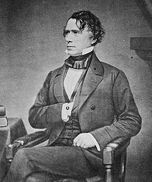"""#14 Franklin Pierce (November 23, 1804 – October 8, 1869) was the 14th President of the United States (1853–1857) and is the only President from New Hampshire. Pierce was a Democrat and a """"doughface"""" (a Northerner with Southern sympathies)"""