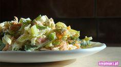 Surówka z pora Potato Salad, Cabbage, Potatoes, Vegetables, Ethnic Recipes, Food, Potato, Essen, Cabbages