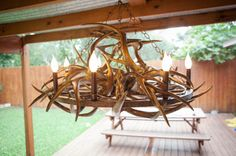 Antler and wagon wheel chandelier. Coated in cold liquid metal and aged. Wagon Wheel Chandelier, Wildlife Art, Handmade Art, Home Remodeling, Art Gallery, Liquid Metal, Man Caves, Ceiling Lights, Cabin Ideas