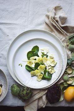 Princess Tofu | Raw Artichoke Salad with Preserved Lemons, Green Almonds, and Parmesan