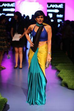 #MandiraBedi #ColorBlock #SpringSummer'15 #GauriKhanCollection #LakmeFashionWeek
