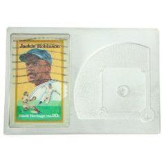 Jackie Robinson Genuine US Postage Stamp Baseball Diamond Paperweight