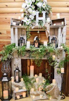 Wedding reception barn, wedding décor, reception décor, flowers...Barn wedding and reception venue in Alabama whiteacresfarms.com