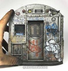 Scale Models, Vignettes, Graffiti, Miniatures, Paint, American, City, Amazing, Artwork