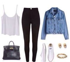 a very cute outfit with white converse.