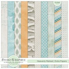 Heavenly Retreat | Extra Papers by Scrapyrus Designs