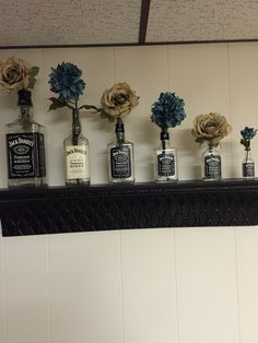Jack Daniels bottles and flowers!