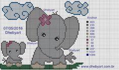 Dhebyart: Mamãe Elefante e Filhotes ( Dia das Mães )