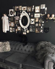 Dark Home Decor, Goth Home Decor, Creepy Home Decor, Goth Bedroom, Bedroom Decor, Gothic Bathroom Decor, Decor Room, Wall Decor, Boho Decor Diy