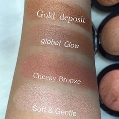 #SWATCHES MAC Mineralized Skin Finish Highlighters & Bronzers Swatches ✨ What's your favorite? ✨ image via @_divamaker