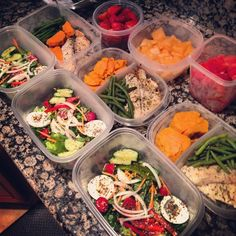 When preparing for each week, do you include workouts and meals on your list of things to plan? On Sunday evenings, we prepare meals, mainly lunches (seen here), for most or all days of the week. This is important to us because it keeps us accountable and unlikely to make unhealthy choices. The couple of hours it takes to prepare meals saves much more time throughout the week, and will keep you from running to the vending machines at work! Read more on our website!