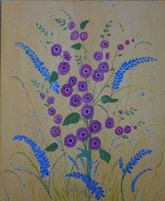 Summer Flower Burst. canvas art floral strong colours,splattering modern bright