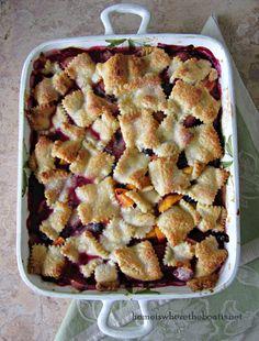 Patchwork Fruit Cobbler | homeiswheretheboatis.net #easy #summer #dessert