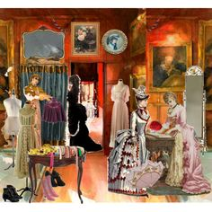 Victorian Store Interiors | Victorian tailor shop - Polyvore