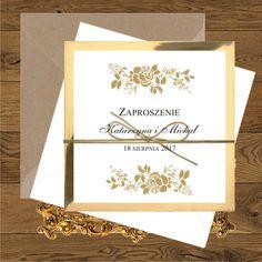 Zaproszenia ślubne Bridesmaids And Groomsmen, Frame, Wedding, Glamour, Invitations, Picture Frame, Valentines Day Weddings, Weddings, Frames