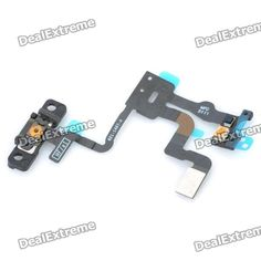 Replacement Light Proximity Sensor Power Button Flex Cable for Iphone 4S