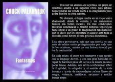 Fantasmas. Chuck Palahniuk. EduRead: #RecomiendoLeer @davidgscom