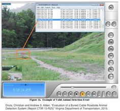 """New research from Virginia: """"The subject animal detection system... detects the crossing of large and medium-sized animals and provides data on their location along the length of the [300-m-long buried] cable. The system... generates an invisible electromagnetic detection field around buried cables. When the detection field is perturbed, an alarm is declared and the location of the intrusion is determined...."""