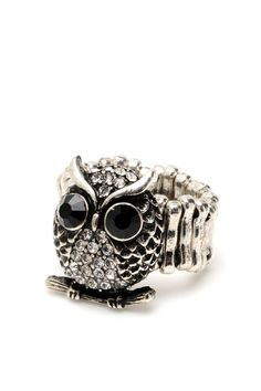 owl cocktail ring <3
