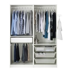 """View the PAX Wardrobe, white, Auli mirror glass, """". This wardrobe combination is just as good looking on the outside as it is clever on the inside. Small Room Bedroom, Small Rooms, Bedroom Decor, Bedroom Ideas, Pax Planer, Organiser Son Dressing, Glass Wardrobe, Open Wardrobe, Armoire Pax"""