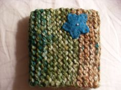 Green & Brown Knitted Coffee Cozy with Thick by CozyCafeKnits, $10.00