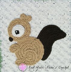 Ravelry: Squirrel Applique pattern by Teri Heathcote