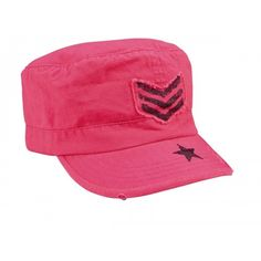 Women's Vintage Pink Sgt Stripe Fatigue Cap