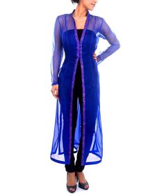 Sheer Front Open Jacket/Kurta
