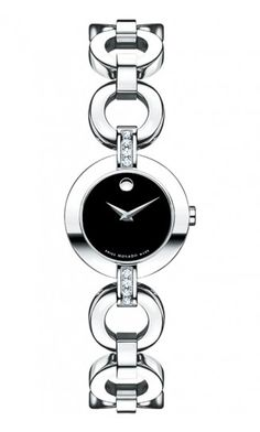 Movado   Belamoda Women's Stainless Steel Bracelet Watch With Diamonds
