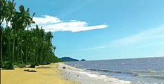 Sunny Day on Jawai Beach, Indonesia