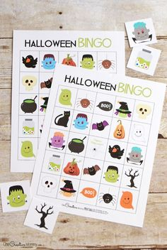 Free Halloween Bingo boards | Perfect for families, room moms and party planners! {OneCreativeMommy.com} This game is so fun at a class party!