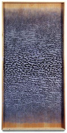 MARTIN KLINE  Silver Painting, 2002, Encaustic on panel,