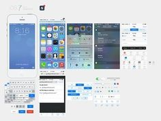iOS7 UI Kit / pack file or graphic resource asset