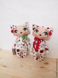 """Кошечки """"Для любимой"""" - ярко-красный,День всех влюбленных,День Святого Валентина"""
