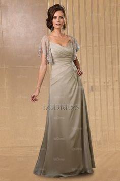 A-Line/Princess V-neck Floor-length Chiffon Mother of the Bride - IZIDRESSES.com at IZIDRESSES.com
