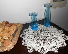 White crochet Centerpiece vintage lace, crochet doily