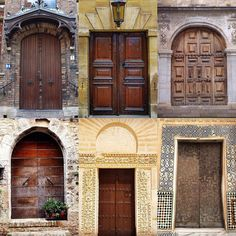 Brown Door by:  R1C1: @ justagirlandacamera_ R1C2: @friskycrow R2C1: @creativeseagull R2C2: @criatura_de_isla R3C1: @crezemaux R3C2: @magnorhodo  Congratulations!  Tag #windowsanddoorsoftheworld to be featured! #browndoors