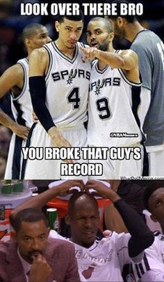 Danny Green (25) breaks Ray Allen's NBA Finals record for 3 pointers made in a Finals series.