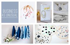 The @etsy 'Business As Unusual' finalists in the #etsydesignawards, https://etsydesignawards.com.